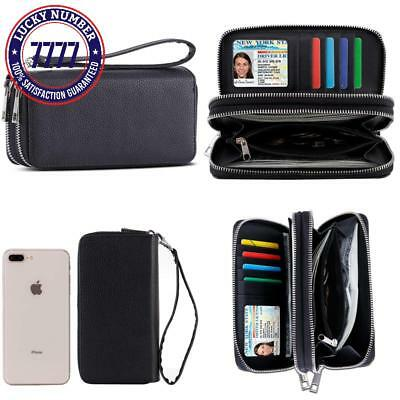 8b47a46335a4 XEYOU LEATHER PURSE Travel Wallet & Passport Holder Securely Holds B ...