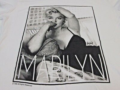 Vintage Marilyn Monroe White T Shirt Size Small S 1985