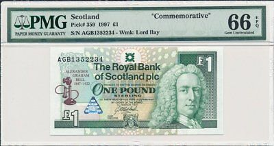 The Royal Bank of Scotland Plc Scotland  1 Pound 1997  PMG  66EPQ