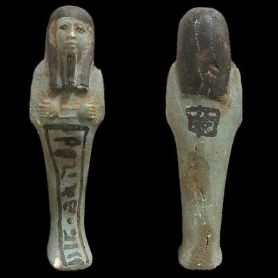 EGYPTIAN HIEROGLYPHIC SHABTI, LATE PERIOD 664 - 332 BC (5) 13 cm Tall !!!!!!!