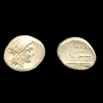 Coins: Ancient Rare Unresearched Hemidrachm Greek Silver Coin 300 Bc Coins & Paper Money 6