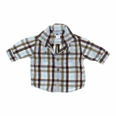 Janie and Jack Baby Boys Shirt, size NB,  brown, grey,  cotton