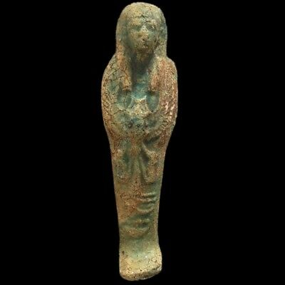 EGYPTIAN HIEROGLYPHIC SHABTI, LATE PERIOD 664 - 332 BC (9) 16.2 cm Tall !!!!!!!
