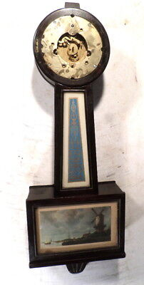 "Large 30"" Westminister Chiming 8 Day Banjo Clock"