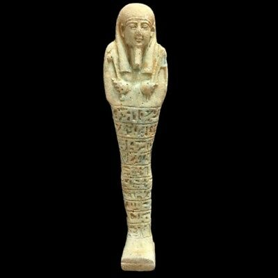 EGYPTIAN HIEROGLYPHIC SHABTI, LATE PERIOD 664 - 332 BC (12) 14 cm Tall !!!!!!!