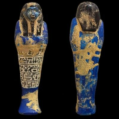 EGYPTIAN HIEROGLYPHIC SHABTI, LATE PERIOD 664 - 332 BC (13) 22 cm Tall !!!!!!!