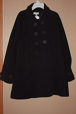 JoJo Maman BeBe Wool Maternity swing coat navy size 6