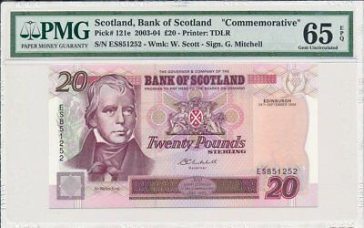 Bank of Scotland  Scotland  20 Pounds 2004  PMG  65EPQ