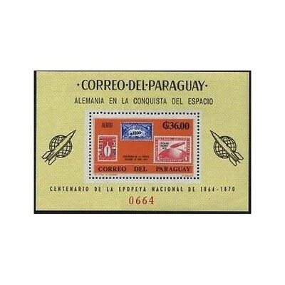 Paraguay 950a,950a imperf.MNH.Michel Bl.83-84.German Contribution Space Recearch