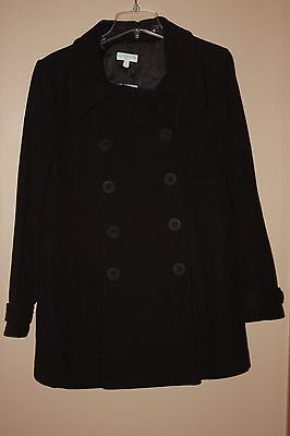 JoJo Maman BeBe Wool Maternity Peacoat  coat Black size 8