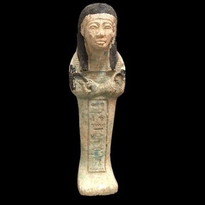 EGYPTIAN HIEROGLYPHIC SHABTI, LATE PERIOD 664 - 332 BC (14) 14.5 cm Tall !!!!!!!