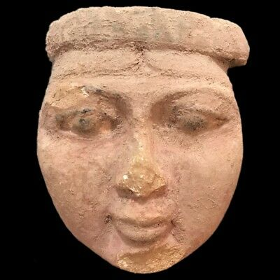 Beautiful Ancient Egyptian Mask Statue 300 Bc (1) Large !!!!