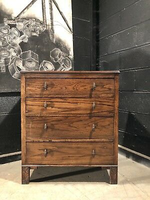 Can Deliver Art Deco Vintage Style Chest Of Drawers In Oak Antique Furniture