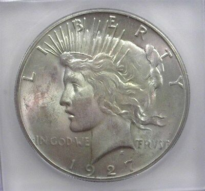 1927 Peace Silver Dollar Icg Ms64+ Better Date!  Valued At 450!