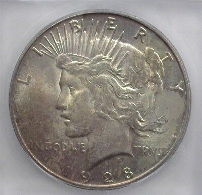 1928-S Peace Silver Dollar Icg Ms64 Better Date!  Valued At 950!