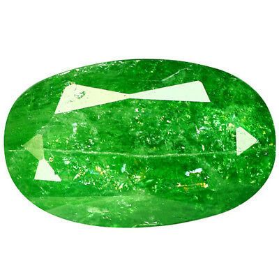 3.29Ct Outstanding Oval Cut 11 x 7 mm 100% Natural GREEN TSAVORITE