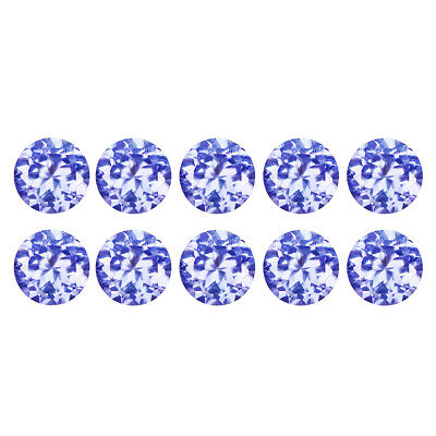 1.34Ct (10Pcs Lot) Awesome Round Cut 3 x 3 mm 100% Genuine AAA Tanzanite