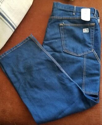 a3e95fa72dae Mens Tyndale FR FLAME RESISTANT FRMC Blue Work USA Jeans Size 44x30 F290T