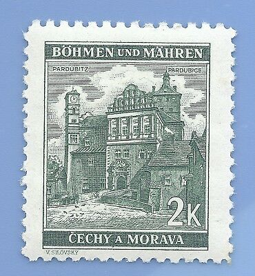 Nazi Germany Third Reich Nazi B&M Buildings 2k Stamp MNH WW2 Era stamp