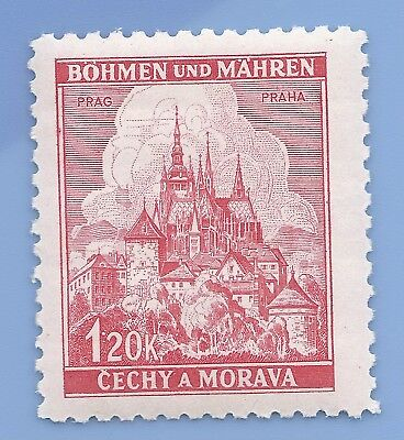 Nazi Germany Third Reich Nazi B&M Buildings 120k Stamp MNH WW2 Era stamp