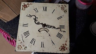 Antique Grandfather Clock - Face Movement Longcase - George Way Wincanton