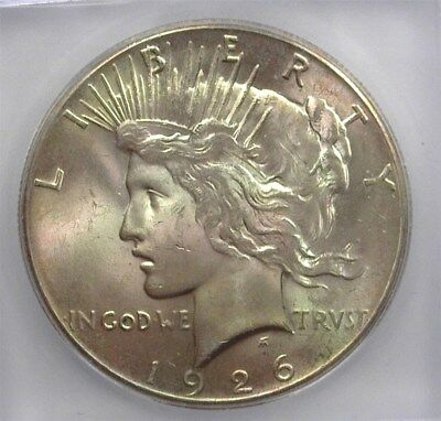 1926 Peace Silver Dollar Icg Ms63 Valued At $95!