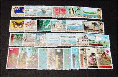 nystamps British Gilbert Islands Stamp # 253//284 Mint OG NH $28