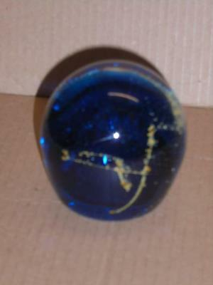 Mdina - Glass Paperweight - Signed And Dated 07 - Original Label