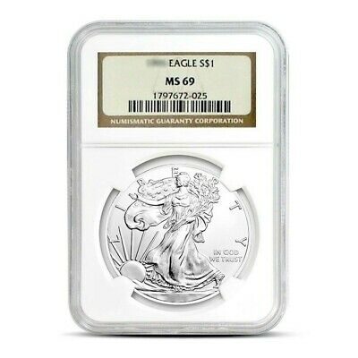 2007 1 oz American Silver Eagle Coin NGC MS69 .999 Pure Brilliant Uncirculated