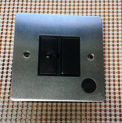 Fuse switch, Brushed Stainless Steel, unit is for mounting over tiled area.