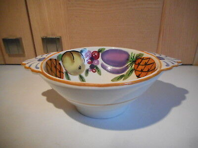 Bursley Ware Art Deco Stylised Fruit Charlotte Rhead {?} Pattern 819 Small Bowl