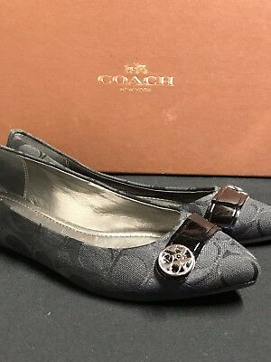 0bee1373251f75 Women s COACH Black Flats New Without Box Size 5