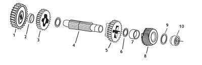 Andrews 251060 Countershaft 1st Gear(8)