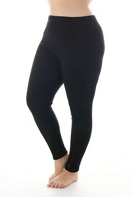 8390fec43ce Zerdocean NEW Black Women s Size 2X Plus Fleece Lined Pull-On Leggings  074