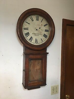 Rare Antique Regulator Clock Case Chelsea Eastman Howard Style With Dial