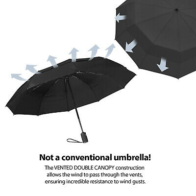 OUTDEW Compact Travel Umbrella w/Windproof Double
