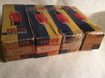 Pair Tube PHILIPS 4688 METAL BASE EL5 Close Akin Of EL35 EL39 EL50 EL5/375 4654K