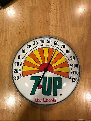 Vintage  7-Up,  The Uncola Sun Ray Soda Thermometer