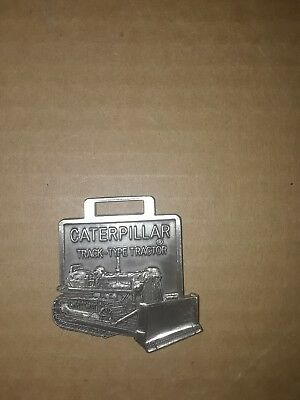 Silver CAT Caterpillar Watch Fob Vintage EXCELLENT CONDITION