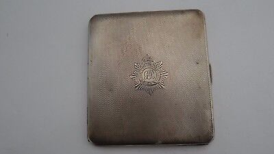 Very Fine WWI Royal Army Service Great Britain Sterling Silver Cigarette Case