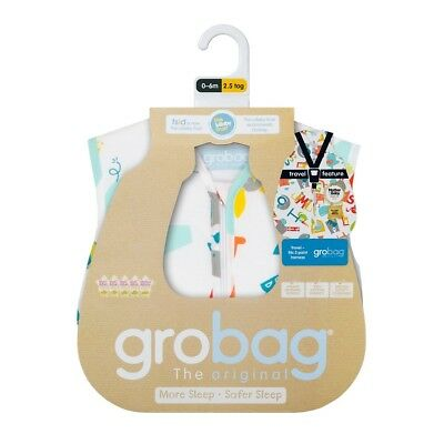 Baby Grobag Gro Travel Sleeping Bag 2.5 Tog Newborn 0-6 Months Cotton - Elephant