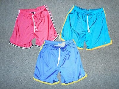 3 Pairs! Nike Womens Small Mesh Soccer Shorts Lot                             A6