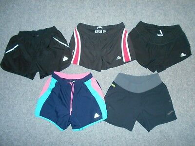 5 Pairs! Adidas & Brooks Womens Small Running Shorts Lot                      A6