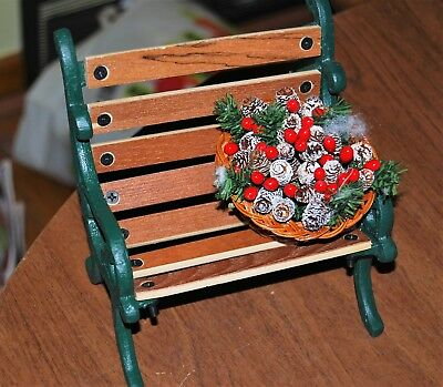 """Byers Choice park bench 6"""" wide"""