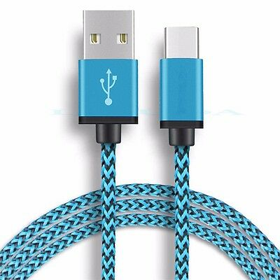 2x Braided Type C Cable USB Charging Cord For Samsung Galaxy S8 S9 Note 8 A8 S7