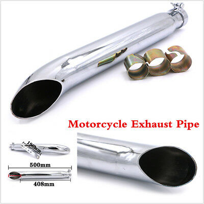 1 Set Silver Motorcycle Exhaust Pipe Muffler Silencer With 3Pcs Reducing Sleeves
