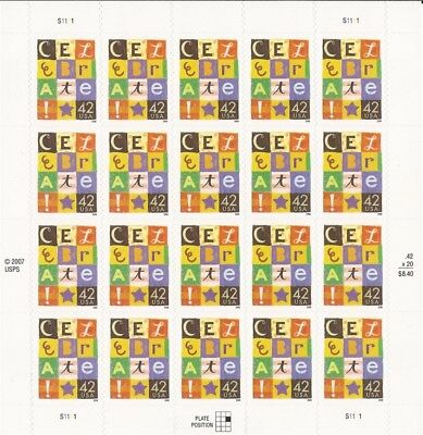 US Stamp - 2008 Celebrate! - 20 Stamp Sheet - Scott #4335