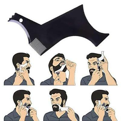Beard Hair Shaping Comb Brush Template Tool Shave Form Lines Men Grooming Shaper