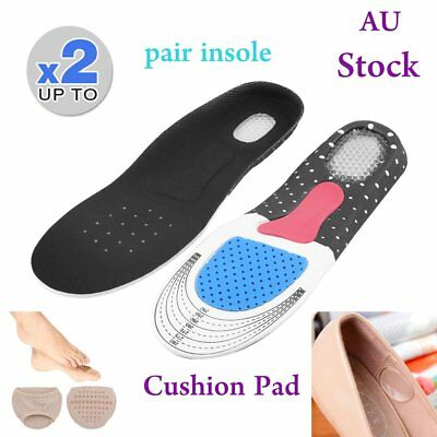 Unisex Orthotic Support Shoe Pad Sport Running Gel Insoles Insert Cushion Kit #J