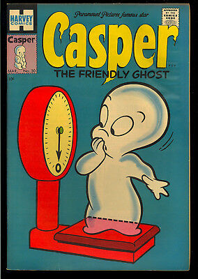 Casper the Friendly Ghost #30 Very Nice Harvey File Copy Comic 1955 VG+
